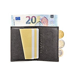 0878d5c6a4c6f Extrem kleiner dünner Geldbeutel Herren mit Münzfach für vordere  Hosentasche von FRITZVOLD – Kleine Geldbörse